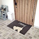 No [Tappetino] Alghe Calde A Casa Simpatico Gatto Tappeto per Porta in Stile Nordico Tappetino per Porta Tappetino per Piatti in Seta 90 Cm × 60 Cm × 1 Cm di Spessore