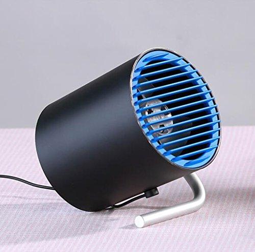Desktop USB Fan Mini Smart Touch Super Stille Schlafsaal Büro Schreibtisch Kleine Fan ( Farbe : Blau )