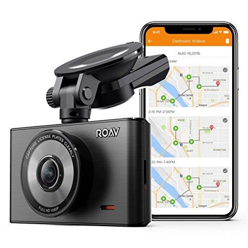 Caméra de Voiture Roav DashCam C2 Pro avec Wifi - Caméra embarquée Full HD 1080p 30fps, mode nuit, capteur Sony Starvis, module GPS, Wi-Fi, WDR, ventouse et lentille grand-angle [carte SD incluse]