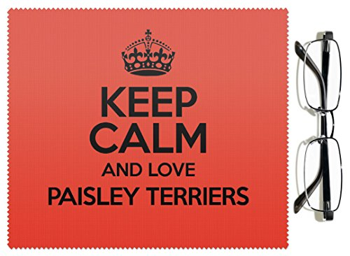 RED Keep Calm and Love Paisley 1578 colore lenti Terrier