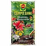 COMPO SANA Qualitäts Blumenerde 20Liter - Universalblumenerde mit einzigartiger Zusammensetzung für optimales Pflanzenwachstum