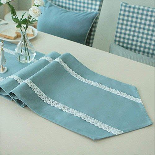 MoMo Continental Idyllische Einfarbige Stoffe Tisch Flagge Feine Spitze Tisch und Sie Zeigen Winkeltisch Flagge 35 * 150 cm -