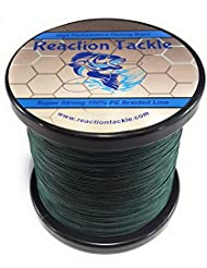 Reacción Tackle Sedal de pesca trenzado de alto rendimiento (varios colores), Musgo verde