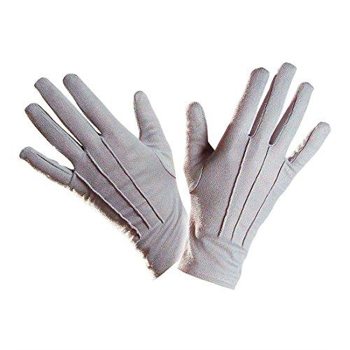 NET TOYS Graue Zauberer Handschuhe Vampir Magier Handschuh Hand Schuhe Karneval Fasching Kostüm Zubehör