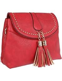 Fur Jaden Red Ladies Sling Bag For Woman