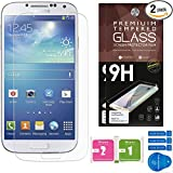 Cell Phones Accessories Best Deals - Samsung Galaxy S4 Screen Protector [Set of 2] - Ballistic Tempered Glass - Maximum Impact Protection - 99.99% Crystal Clear HD Glass - No Bubbles - Cell Phone DIY® Protectors Kit for Samsung Galaxy S4