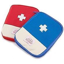 Shopaholic Mini Small First Aid Kit Travel Pouch Medicine Storage Bag (Multicolor)