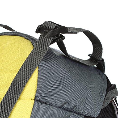 Zaino Trekking, 55 litri Donna e Uomo per Campeggio Alpinismo Arrampicata Viaggio Bicicletta Impermeabile Zainetto YUMOMO (arancione, 55L) giallo