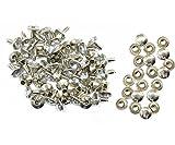 Weddecor 10x 8mm, Farbe: ab, Acryl mit Strass mit Zubehör für Rivet Nieten, Leder, zum Basteln, Designer-Gürtel, Kleidung, Taschen, Hunde-Halsbänder, metall, silber, 50