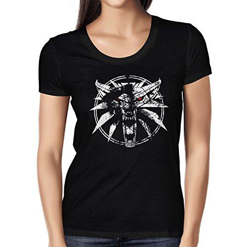 Comic Figur Kostüme Für Buch Frauen (TEXLAB - Hexer Logo - Damen T-Shirt, Größe S,)
