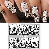 Quaan 5 Farbe Halloween Nagel Aufkleber Nagel Dekoration Grusel Design