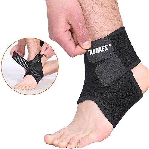 2 Pack AOLIKES Regolabile Supporto Stabilizzatore Ortopedico Caviglia Cinturino Alla Caviglia Tendini Conpression Slogature Pregiudizio Calcio Basket Pallavolo Dance