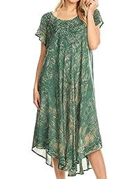 Sakkas Michiko Stonewashed Caftan Dress / Cover Up
