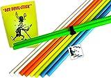 Henrys und weitere Handstäbe Beat für Devilstick Set: Trick-Lernfibel, Stripe und Sticker (Neon-Gruen)