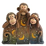 Animal Family Monkeys See, Speak, Hear No Evil Ornament
