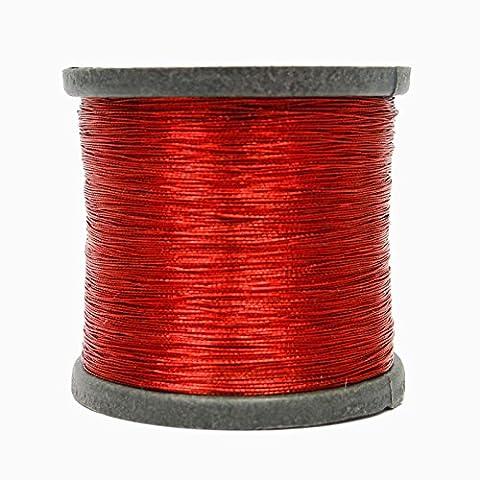 Fil rouge métallisé coudre Machine piquante de broderie Spool ensemble