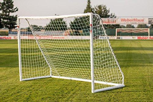 POWERSHOT Fußballtor PRO 3,7 x 1,8 m [WETTERFEST] mit Klicksystem (3.7 x 1.8 m ohne Tasche)