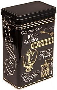 Boîte à café/thé/café arabica–Style Vintage Noir Rectangulaire Kitchen Boîte de rangement/boîte à–Hermétique