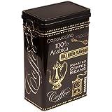Negro Arabica café–Vintage estilo rectangular caja metálica de almacenamiento para café/té/bote para–herméticamente cerrada