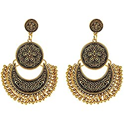Shining Diva Fashion Antique Gold Jewellery Stylish Earings Fancy Party Wear Earrings For Women & Girls