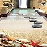 Benutzerdefinierte 3D selbstklebende Boden Wandbild Stein Küche Badezimmer Outdoor Bodenfliese Aufkleber Wasserdichtes PVC, 250 * 175 cm