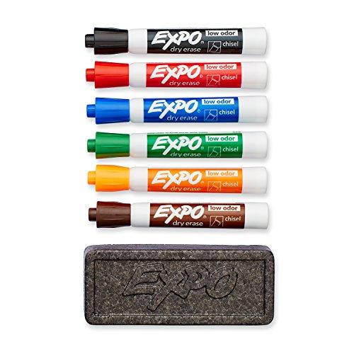 dry-erase-marker-organizer-kit-chisel-tip-assorted-6-set