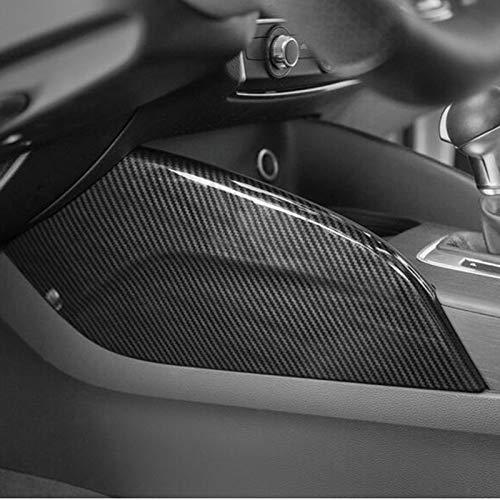 HDCF Car Center Console Beide Seitenverkleidung Dekoration Abdeckung Trim Carbon Farbe 2 stücke Für A3 8 V 2014-18 LHD ABS Aufkleber