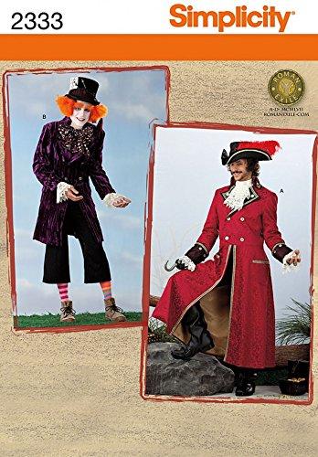 Simplicity Schnittmuster 2333–Männer Kostüme Größen: AA (Hatter Männer Mad Kostüme)