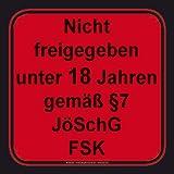 FSK 18 - Altersfreigabe - Sticker Aufkleber - Grösse ca.