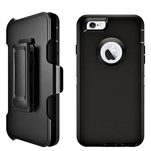iPhone 6Fall: longrise Robuste 4-lagige iPhone 6S Heavy Duty Defender Touch ID Case mit integriertem Displayschutz [Tropfen Schutz] [stoßfest] für iPhone 611,9cm Htc Touch Defender Case