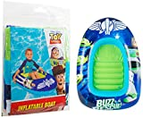 Sambro International Toy Story Barco Inflable para Nadar al Aire Libre, con Madera, Buzz Jessie