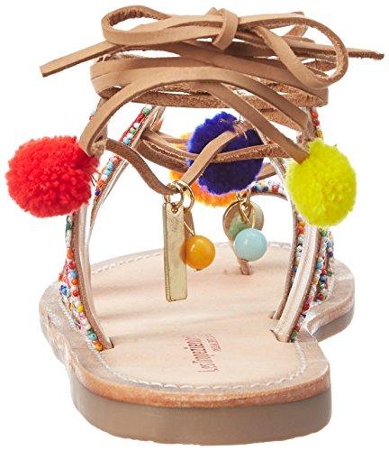 Les Tropéziennes par M. Belarbi OREA,  Bride Cheville Femme Multicolore (Multi)