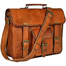 Znt Bags Original Leather Laptop Bag/Bagpack/Satchel Messenger Bag/Office Bag/Briefcase for Men/Women/Ladies/Boy/Boys/Girl/Girls/Gents/Ladies/Unisex for School/College/Daily Use/Laptop/Sling/Messenger/Cross-Body/Shoulder/Side/Handbag/Branded Bags (Amber)