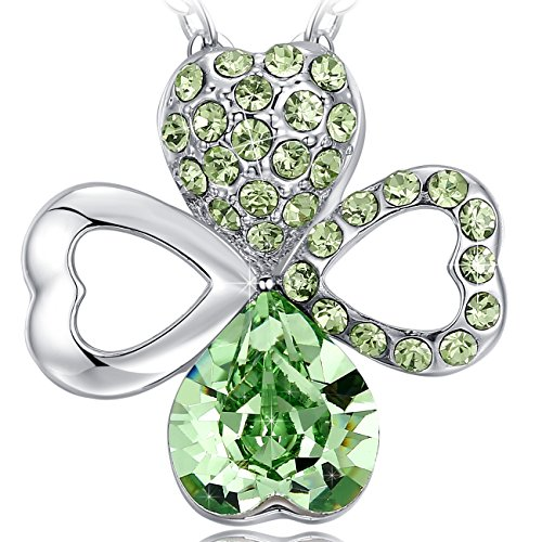 Green Crystal Diamanté Silver Brooch Mothers Day Gift