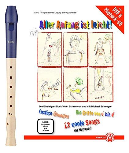 Moeck Blockflöte 1023 Flauto 1 Plus Barock inkl. Flötenschule
