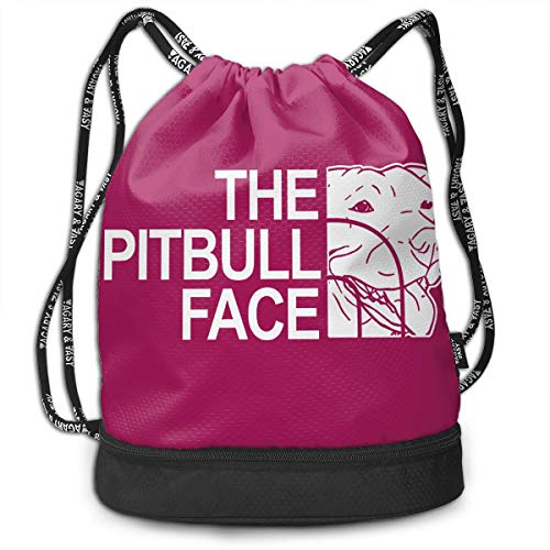 Preisvergleich Produktbild Rtytgfdw Multi-Functional Unisex The Pitbull Face Messenger Bag Size Large