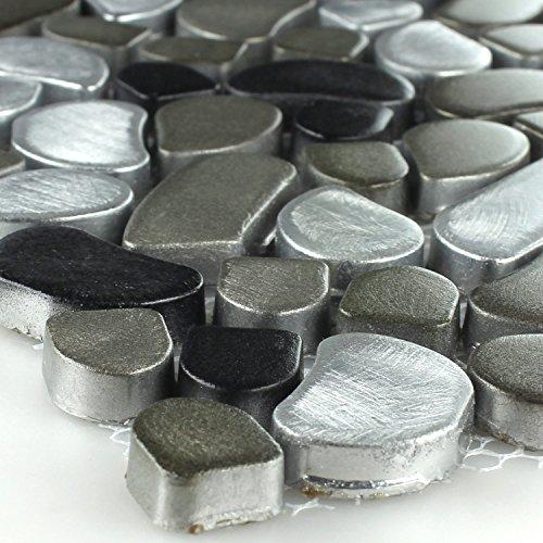 Mosaikmatte Naturstein schwarz