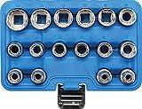 Bgs Technic Pro+ - Set Di 16 Chiavi A Bussola Con Attacco 1/2'', Bocca Dodecagonale, 8-24 Mm