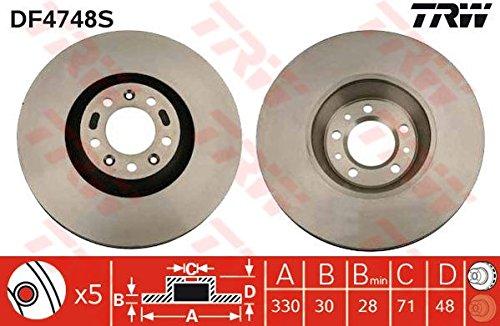 Preisvergleich Produktbild TRW DF4748S Bremsscheibe Scheibenbremsen, Bremsscheiben (x2)