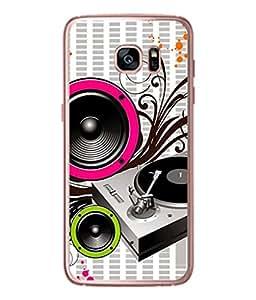 PrintVisa Designer Back Case Cover for Samsung Galaxy S7 (musical instruments and speaker pattern)