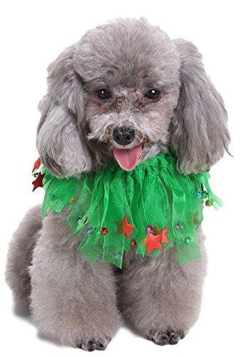 Kostüm Gra Für Hunde Mardi - Fancy Me Tier Haustier Hund Katze Mardi Gras Kragen Kostüm Kleid Kostüm Outfit - Grün, Medium