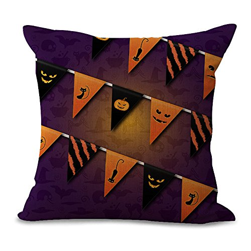 hengjiang Halloween Totenkopf Kissen Bezug Baumwolle Sofa Decor Werfen Kissenbezüge Kissenbezug Decor Kissenbezug - 6 Halloween Titel