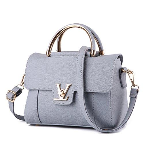 Borsa della borsa della borsa della borsa della borsa della signora della borsa della borsa di modo alla moda Hobo Grigio