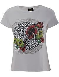 Liu Jo Mujer C17236J9067W9315 Blanco Algodon T-Shirt