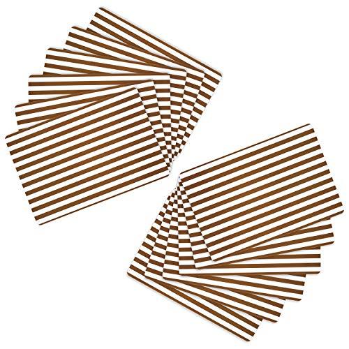 MamboCat 12er Tischset Cado Taupe 43 x 28.5 cm I abwaschbare PVC-Platzsets I abwischbare Tischmatten I wasserfeste Untersetzer I Gastro