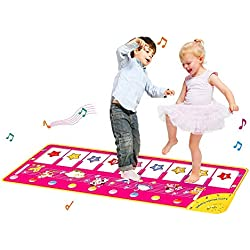 CYMY Piano Music Dance Mat Keyboard Playmat, Juguetes Educativos para Música Juguetes para Niños de 6-24 Meses Niños Bebés Niños Pequeños Regalos de Juguetes para Niños de 1-6 Años Niños Niñas