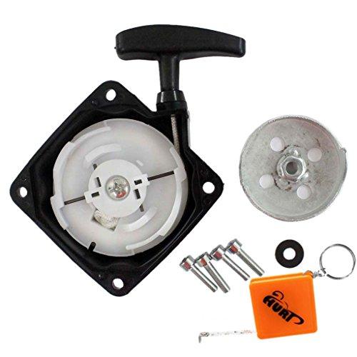 HURI Seilzugstarter / Starter + Mitnehmerplatt passend für Brast 4in1 Plus 1004200001 Motorsense Freischneider Heckenschere Hochenaster 52ccm