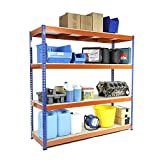 Racking Solutions - Estantería / Estante del garaje/ Sistema de almacenamiento de acero, cargas pesadas, capacidad de carga total 1600kg (4 niveles 18