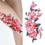 Oottati Arm Brust Temporäre Tattoo Blume Frau (Set mit 2)