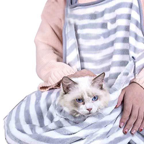 Cikuso Katze Tragen Rucksack Kaninchen Umarmung Katze Haar Schürze Anti-Stick Haar Umarmung Hund Kleidung Halten Für Welpen Katze Tasche Welpen